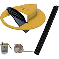 Flip N'Slide Bucket Lid Mouse/Rat Trap丨Mouse Bucket Device,Mouse Traps Humane — Mouse Trap Cage for Indoor Outdoor (1Set…
