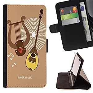Dragon Case - FOR Samsung Galaxy S6 EDGE - the greek music - Caja de la carpeta del caso en folio de cuero del tir¨®n de la cubierta protectora Shell