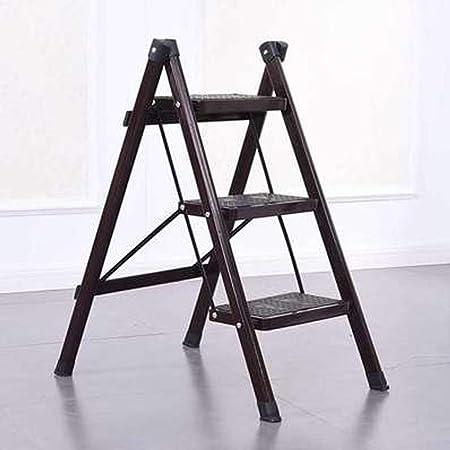 Escalera plegable para el hogar, taburete plegable de tres peldaños escalera de pedal, escalera antideslizante para cocina, taburete plegable y soporte para flores 3: Amazon.es: Hogar