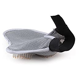 B1ST Pet Grooming Glove Tool Hair Removal Mitts Gentle Brush for Cat&Dog Long&Short Fur