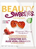 juicy juice fruitfuls - Beauty Sweeties Jelly Hearts, Pomegranate and Rasberry Fruit, 4 Ounce