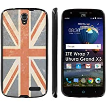 ZTE [Uhura Grand X3 Z959] Soft Mold [Mobiflare] [Black] Thin Gel Protect Cover - [Rustic Union Jack] for ZTE [Uhura Grand X3] [Warp 7]