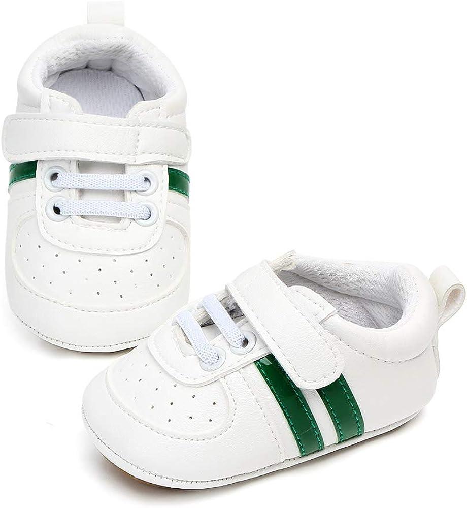 Chaussures B/éb/é Garcon Fille Chausson Cuir Souple Bebe Chaussures Premiers Pas Antid/érapants Sneakers Basses B/éb/é 3-18 Mois