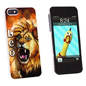 SMMNKOL? Leo Lion Zodiac - Horoscope Astrology Sign - Snap-On Hard Protective Case for Apple iPhone 4s - Non-Retail Packaging - White