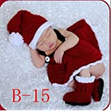 Creative Lovely Knit Crochet New Born Baby Christmas Costume Handmade Newborn Baby Girl Photo Photography Props Crochet Knitted Prop Clothes Outfits Blankets