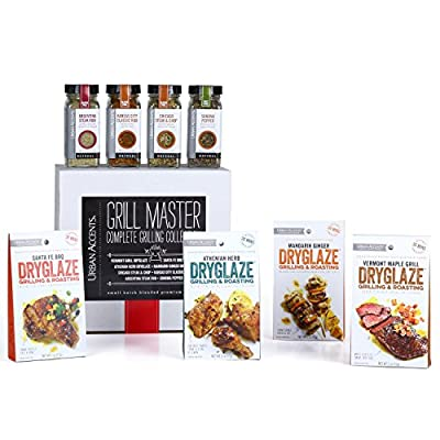 Urban Accents GRILL MASTER, The Complete Gourmet Grilling Collection, A Spices, Rubs and Dryglazes Gift Set, Perfect for Weddings, Housewarmings or Any Occasion