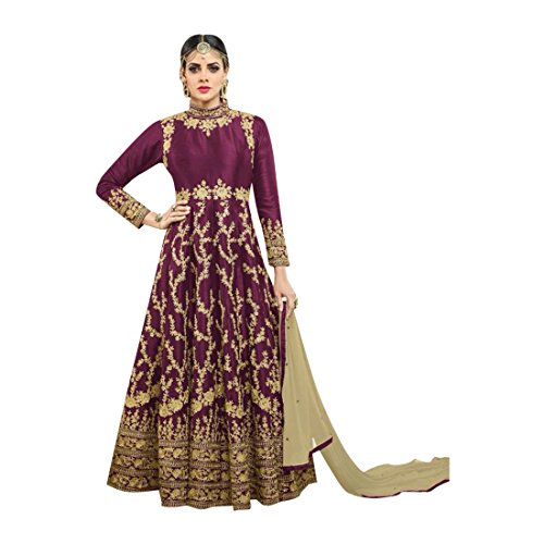 70ee88386b Bollywood Heavy Work Bridal Silk Anarkali Salwar kameez Suit Muslim ...