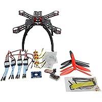 QWinOut DIY PNF Racing Drone Quadcopter Combo Unassembly 310 mm Fiberglass Frame QQ SUPER Multi-rotor Flight Control 1400KV Motor 30A ESC