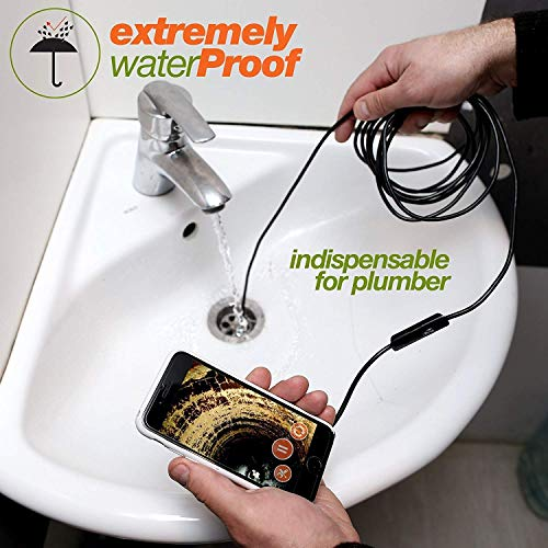 Endoscope - Borescope - Endoscope Android - USB Endoscope Borescope - Micro USB - USB C Inspection Camera - Waterproof LED Automotive Vehicle Bore Drain Digital HD Semi-Rigid OTG Android Case by Harch (Image #4)