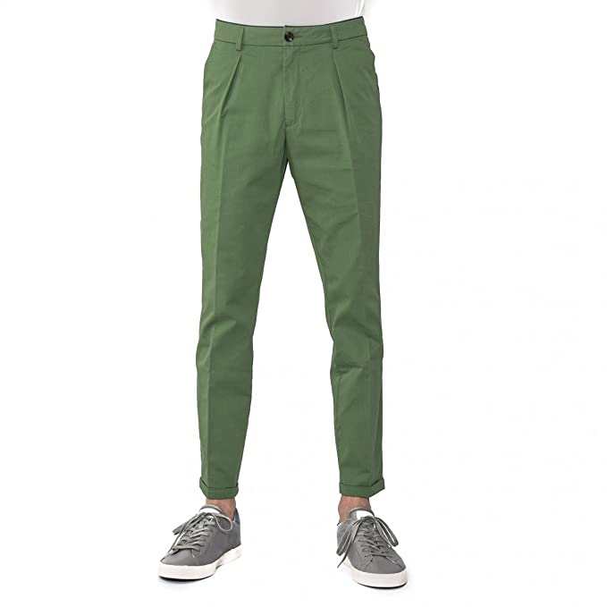 f5b6d3a353 PANTALONE UOMO MADE IN ITALY DEPARTMENT 5 COTONE VERDE U14P03 CARROT ...