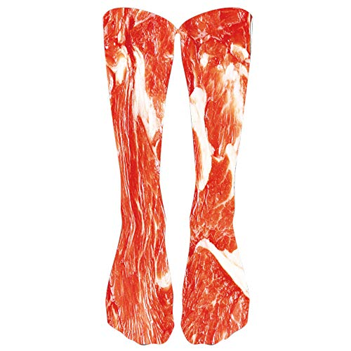 Haluoo Colorful Tie Dye Compression Socks for Women & Men - Best Graduated Athletic Fit Running, Nurses, Athletic, Shin Splints, Flight Travel & Maternity Pregnancy(Raw Meat)