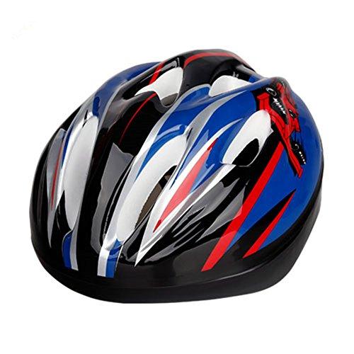 Kids Toddlers Bike Helmet Cycling Riding Biking Skating Roller Skating Helmets Youth Multi-Sports Safty Lovely Bicycle Helmet for Child-Black Blue