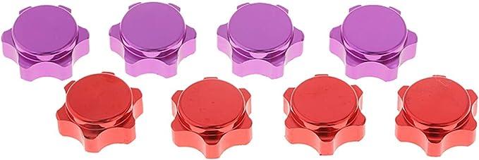 Hellery 8X /écrou De Blocage Hexagonal en Aluminium De 17 Mm pour Moyeu XRAY XB8 XB9 XT9 XB8-2014 RC