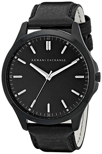 Armani Exchange Men's AX2148  Black  Leather - Exchange 2014 Armani