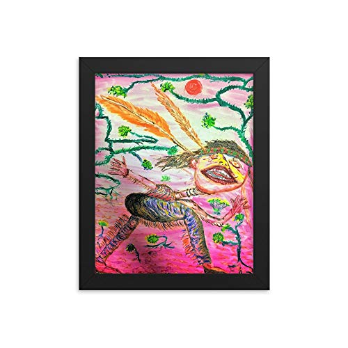 "Sam's Art ""Free Spirit"" by Samuel Butler, Abstract Native American Art Framed Reprint (Art Impression American Native)"