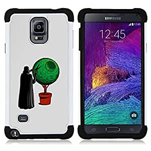 - Funny Vader Bonsai/ H??brido 3in1 Deluxe Impreso duro Soft Alto Impacto caja de la armadura Defender - SHIMIN CAO - For Samsung Galaxy Note 4 SM-N910 N910