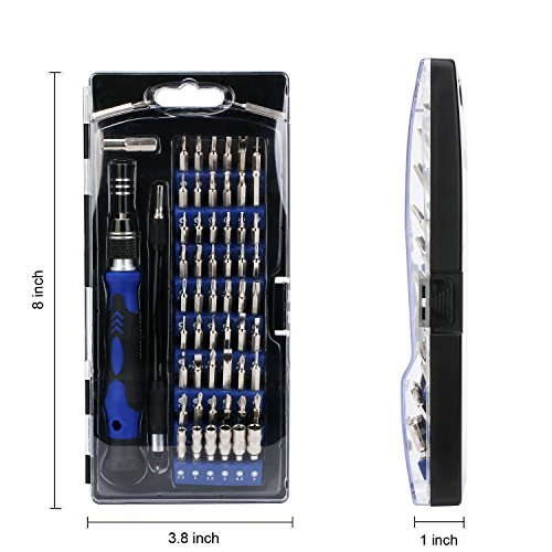 Precision Screwdriver Set with 56 Magnetic Driver Kits,61 in 1 Screwdriver Tool Set,with Flexible Shaft,Opener,Professional Repair for PS4/Computer/iPhone 8/Smartphone/Laptop/Xbox/Tablets/Camera/Toy by UnaMela (Image #4)