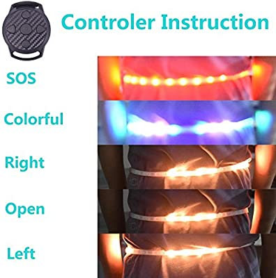 Dogxiong 2in1 LED Running Armband LED Running Warning Light Belt LED Sports Reflective Gear for Cycling Running Camping and Other Night Outdoors Activity