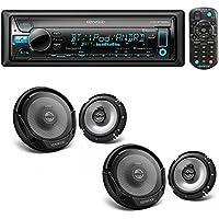 Kenwood KDC-BT565U Single DIN Bluetooth In-Dash CD/AM/FM Car Stereo + (2X) Kenwood KFC-1665S 60W 6.5 2-Way Sport Series Coaxial Speakers