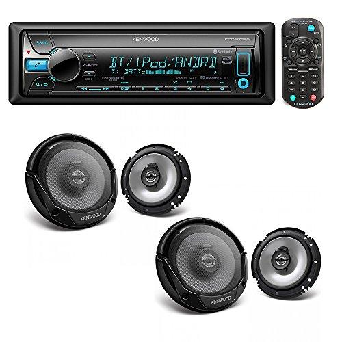 Kenwood KDC-BT565U Single DIN Bluetooth In-Dash CD/AM/FM Car Stereo + (2X) Kenwood KFC-1665S 60W 6.5