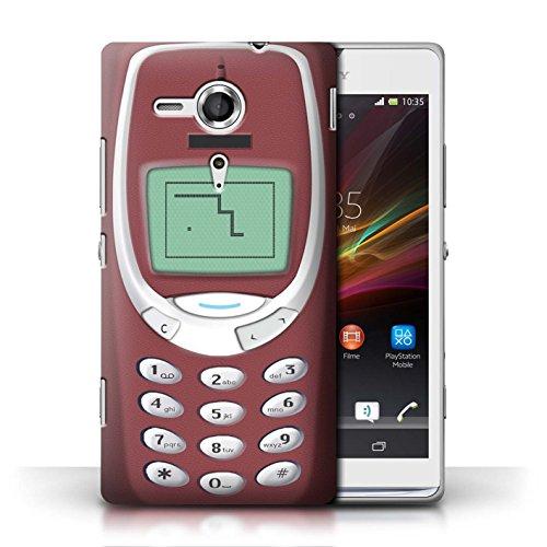 Etui / Coque pour Sony Xperia SP/C5303 / Nokia 3310 rouge conception / Collection de Portables rétro