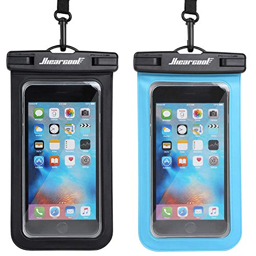 Universal Waterproof Case, Hiearcool Cellphone Dry Bag Pouch for Apple iPhone 6S 6,6S Plus, SE 5S, Samsung Galaxy S8,S7,S6 Note5,6,7 HTC LG Sony Nokia Motorola up to 7.0