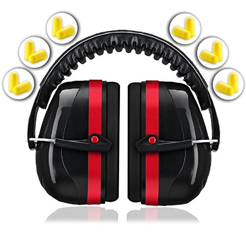 Ear Protection for Shooting Hearing Protector Muffs | Maximum Noise Cancelling Headphones for Mowing Kids Gun Range Soundproof | Bonus 6 Pair of Best Safety Ear Plugs by EarMuffs Armor Baby Toddler by EarMuffs Armor