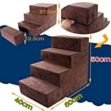 I-sport 4-Step Portable Pet Stairs Pet Steps Pet Ramp Pet Ladder Small Pet Dogs Cats to get on High Bed