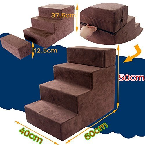 I-sport 4-Step Portable Pet Stairs Pet Steps Pet Ramp Pet La