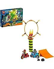 LEGO 60299 City Stuntz Stuntcompetitie Bouwset met 2 Speelgoed Motoren met vliegwielaandrijving, Ring van Vuur, en Duke DeTain Minifiguur