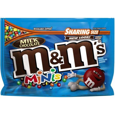 M & M'S Milk Chocolate MINIS Candy Sharing Size Bag (Pack of 2)]()