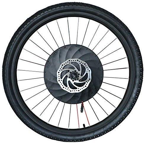 Imortor - Kit de conversión para bicicleta de ruedas delanteras (36 V240 W, sin escobillas, motor sin engranajes, llanta, radios y rueda de neumático para bicicleta de 26 pulgadas)
