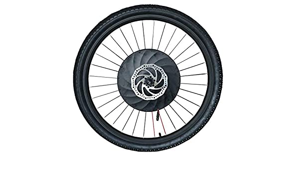 Imortor - Kit de conversión para bicicleta de ruedas delanteras (36 V240 W, sin escobillas, motor sin engranajes, llanta, radios y rueda de neumático para bicicleta de 26 pulgadas): Amazon.es: Deportes y