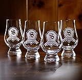 Glencairn Scotch Whisky Glass Engraved, Set of 4 (m30glen)