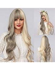 """Wigs 22"""" Long Wavy Hair Heat Resistant Wig for Women"""