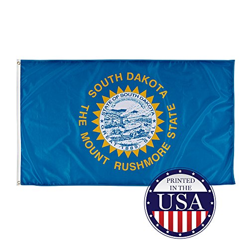 Vispronet - South Dakota State Flag - 3ft x 5ft Knitted Polyester, State Flag Collection, Made in the USA (Flag Only)