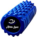 Muscle Foam Roller – Best Fitness Roller for Yoga, Pilates, Back Pain Relief (blue)