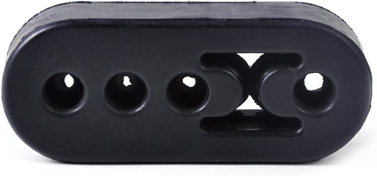 Beler Universal 12mm Löcher Auto Schwarz Gummi Auspuffhalter Aufhänger Auspuffhalterung Auspuffgummi Auto