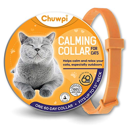 CHUWPI Calming Collar for Cats - Pheromone Calm Collars, Anxiety Relief Fits Small 10