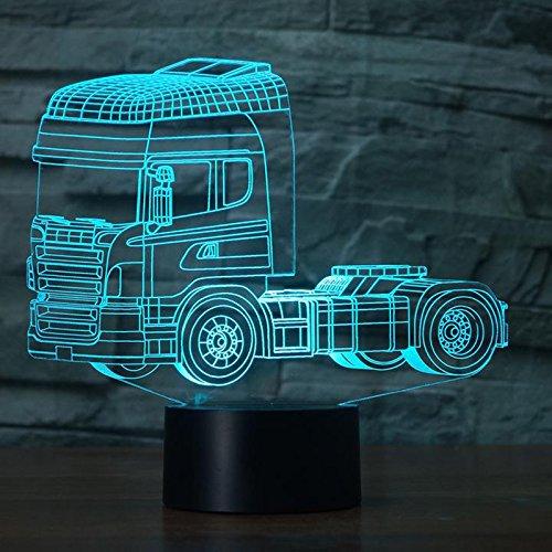 3D Illusion Camion pesado Lámpara luces de la noche ...