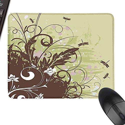 Rectangle Mouse Pads,Dragonfly,with Stitched Edges,23.6