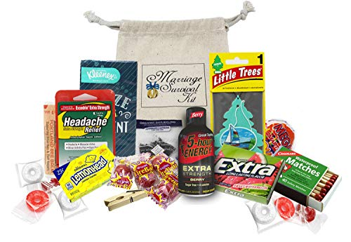 Funny Wedding Gift for The Mr. and Mrs. | Marriage/Honeymoon Survival Kit | Bridal Shower | Newlywed Gag Gift | Idea for Best Man Speech Around The Clock Bridal Shower
