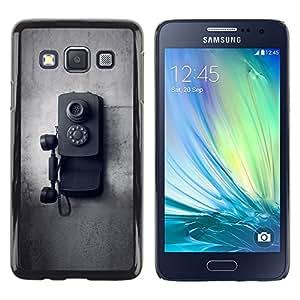 """Pulsar Snap-on Series Teléfono Carcasa Funda Case Caso para Samsung Galaxy A3 , Old School Vintage Negro Blanco"""""""