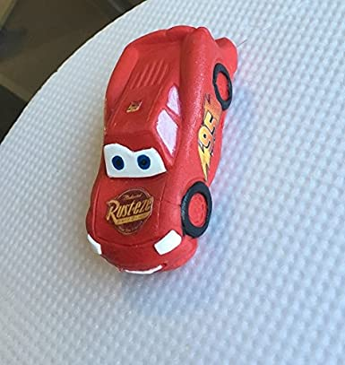 Large Edible Sugar Cars Lightning Mcqueen Mater Rip Formula 1