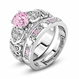 Best Crystal Light Wireless Doorbells - YJYdada Ring, Diamonds Crystal Zircon Ring with Heart Review