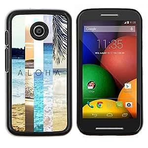 Caucho caso de Shell duro de la cubierta de accesorios de protección BY RAYDREAMMM - Motorola Moto E - campo de verano naturaleza trullo melocotón sol