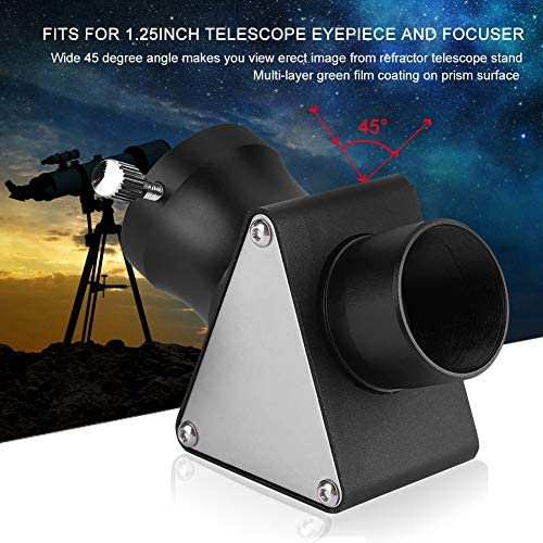 Oumij Astronomical Telescope 2 Inch 45 Degree Multilayer Diagonal Mirror for Astronomical Telescope Eyepiece Accessory