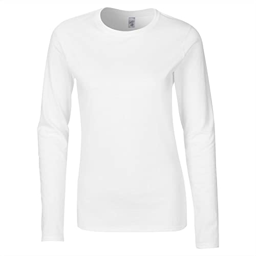 Gildan - Camiseta de manga larga - para mujer