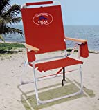 Tommy Bahama High Seat 7 Positions Beach Chair / Red
