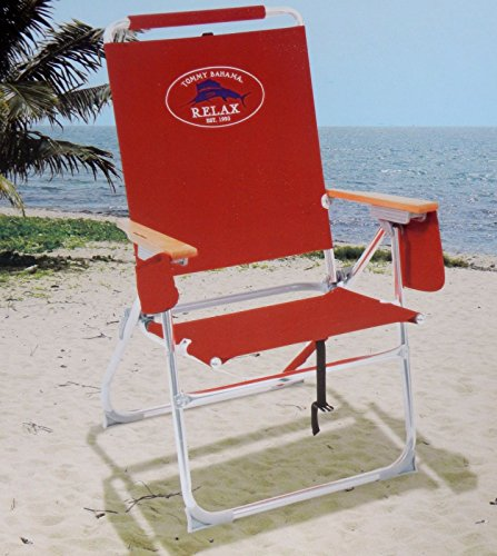 Tommy Bahama High Seat 7 Positions Beach Chair / Red Review